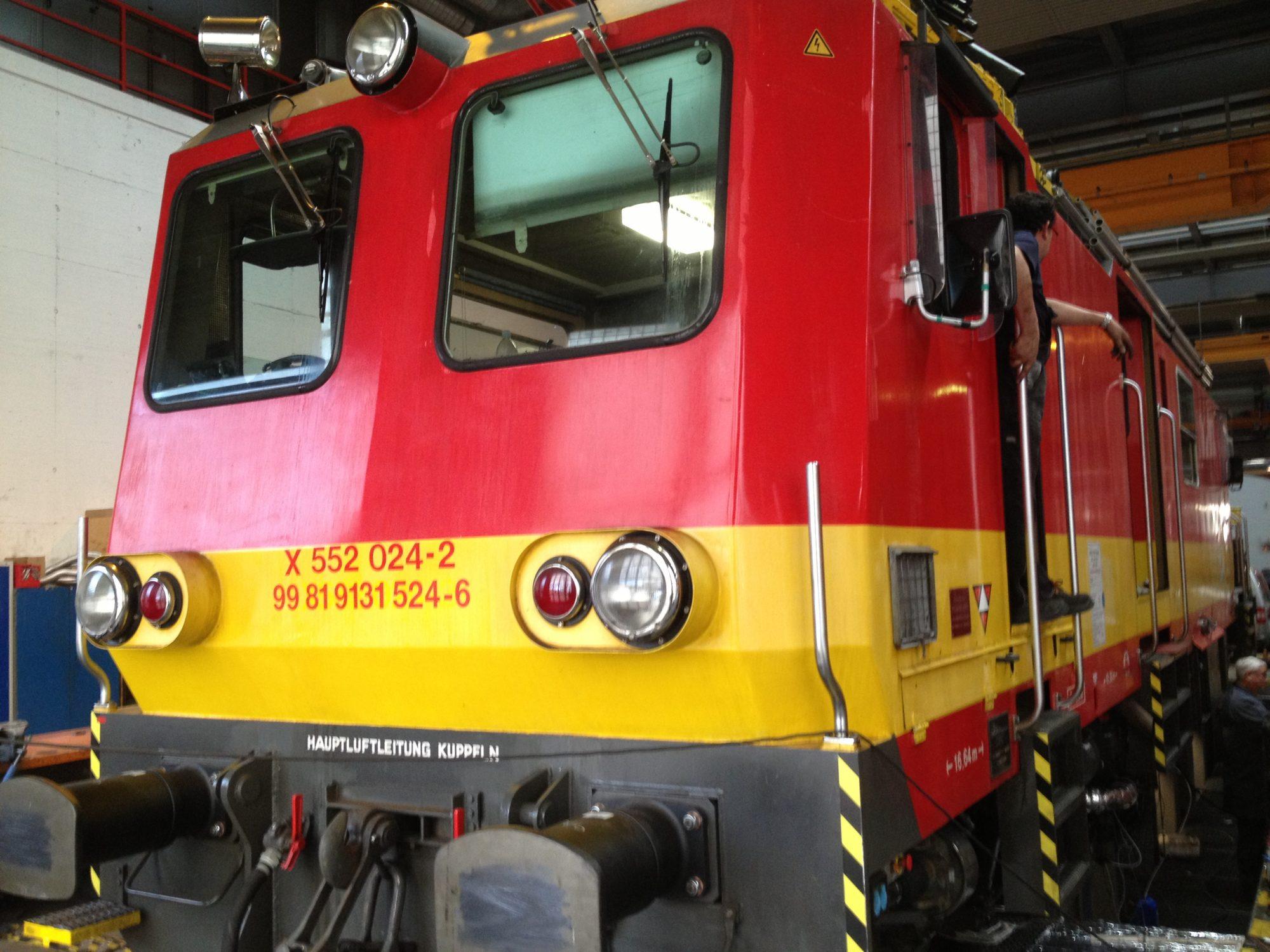 ÖBB Austrian Railroad inspection rail vehicle
