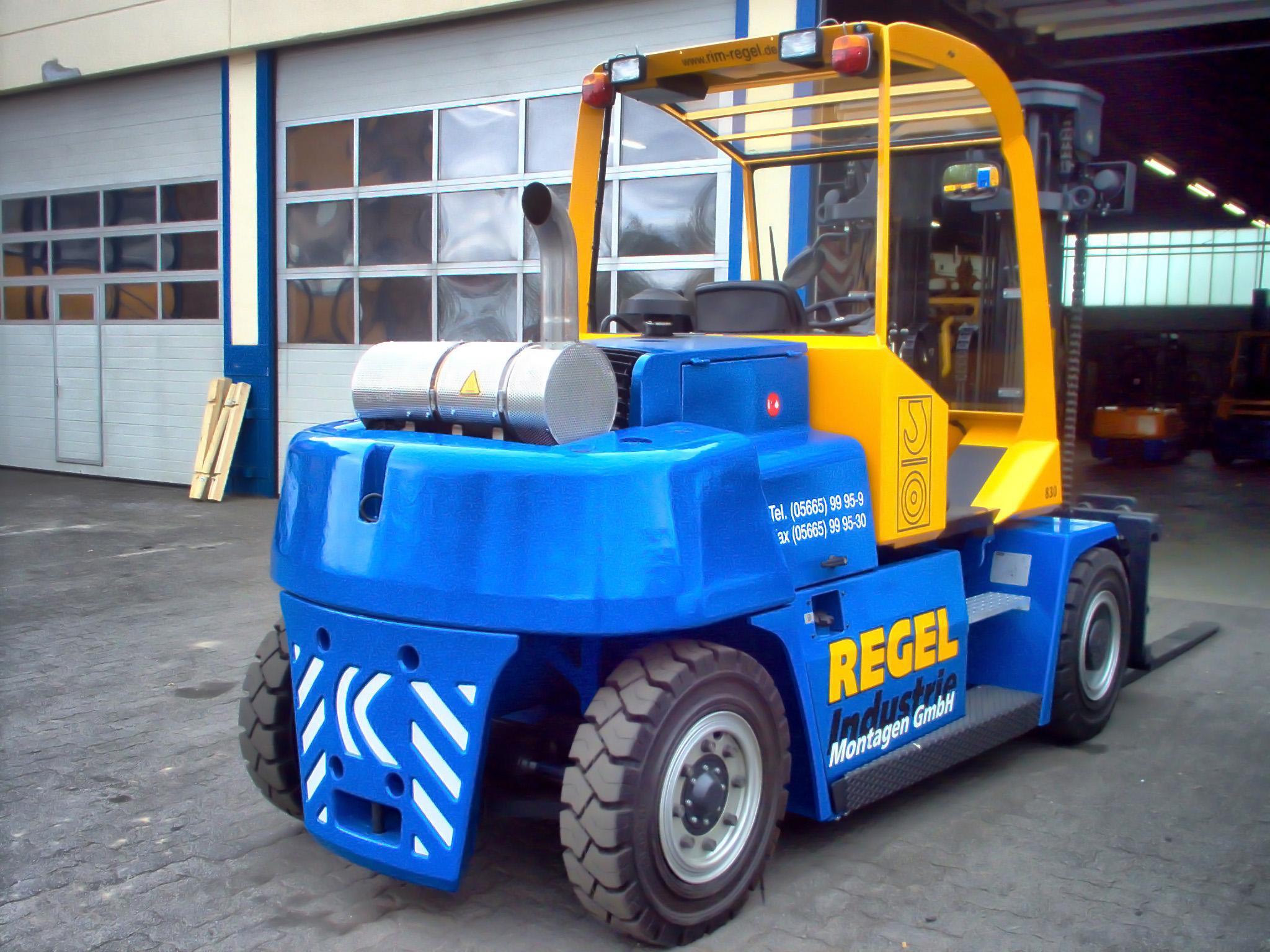 Kalmar heavy duty forklift truck