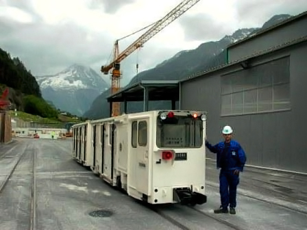 tunneling railroad application in Switzerland