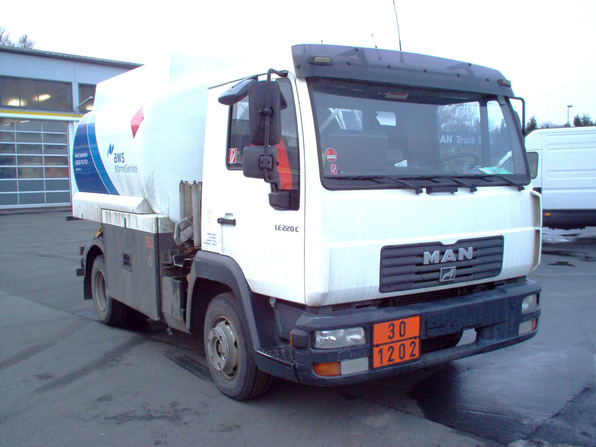 MAN L2000 tank truck